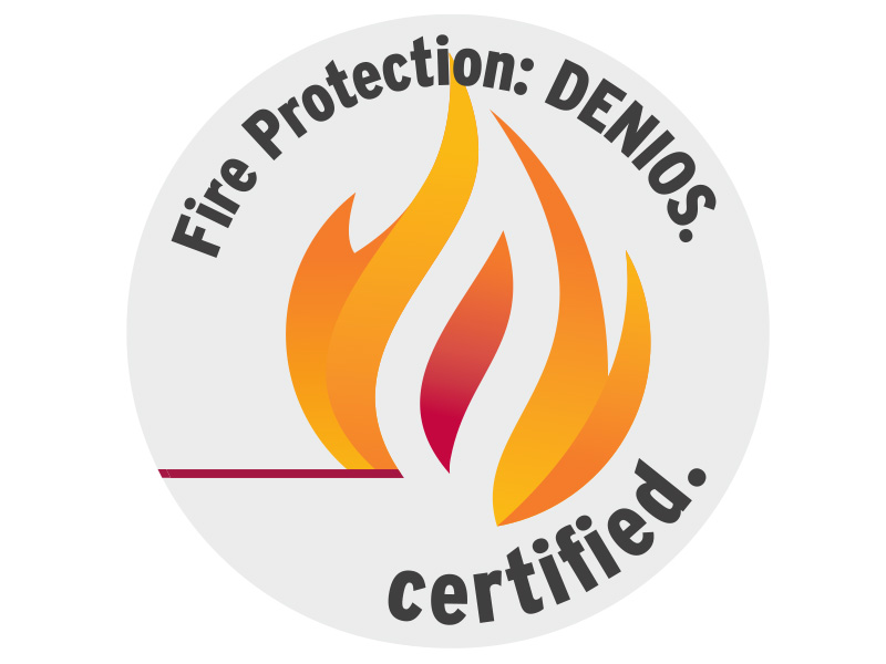 Fire protection: DENIOS. certified.